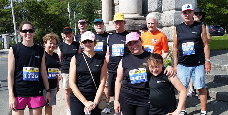 Parkinson's Relay Team in the TELY10